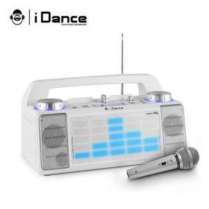 ENCEINTE ET RETOUR Enceinte KARAOKE mobile 50W à LED AUX-FM-USB-FADER