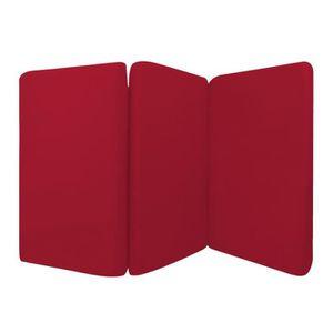 MATELAS BÉBÉ Matelas Bébé Pliant 3 Parties Rouge 60x120 cm