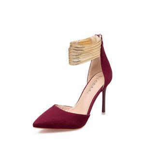 Escarpin Chaussures de talon de la plate-forme des femmes bloc d'impression couleur Chaussures à talon mince 10615428 rfOs7