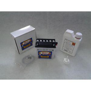 BATTERIE VÉHICULE Batterie STECO YB5L-B + Pack Acide