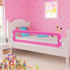 BARRIÈRE DE LIT BÉBÉ Barrières de lit pour enfants 150 x 42 cm Rose