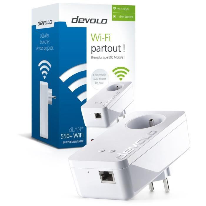 DEVOLO CPL Wi-Fi 500 Mbit/s Modèle dLAN 550+ 9827