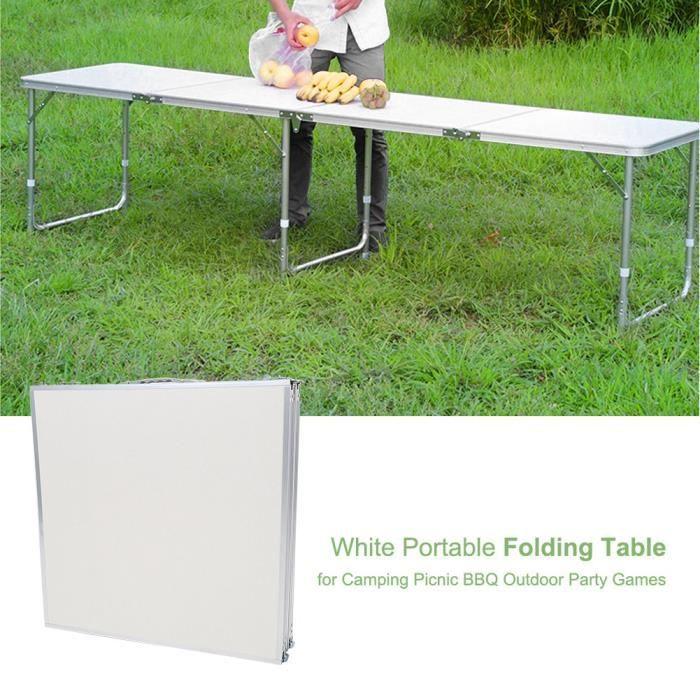 Table de camping Pliante Table Portable Pliable Légère ...