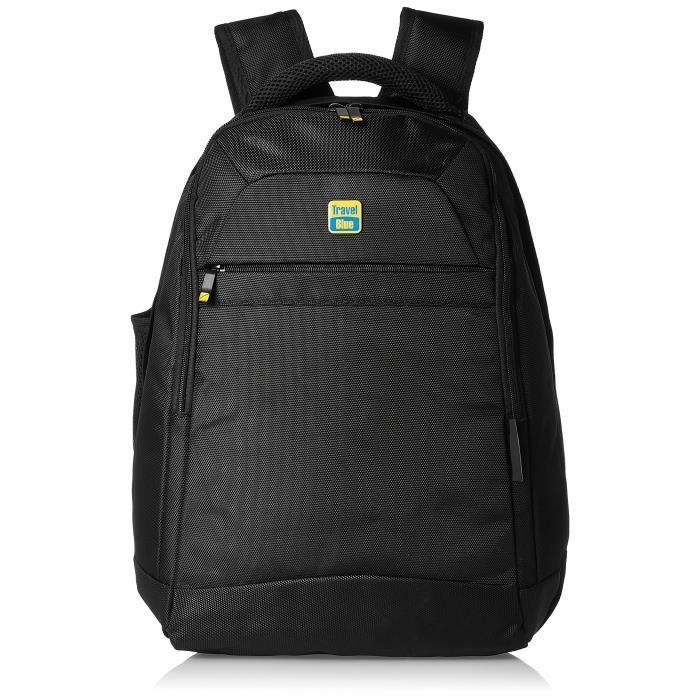 Sac à dos pour ordinateur portable en nylon noir (3502) hommes SCSJQ