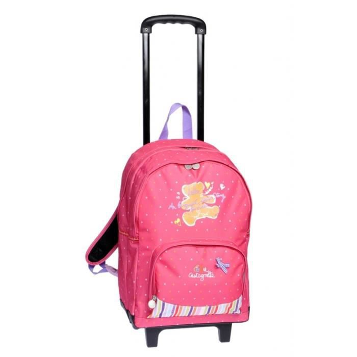 Rose Scolaire Achat Lulucastagnette Sac Dos À Roulettes gIYvfyb76m