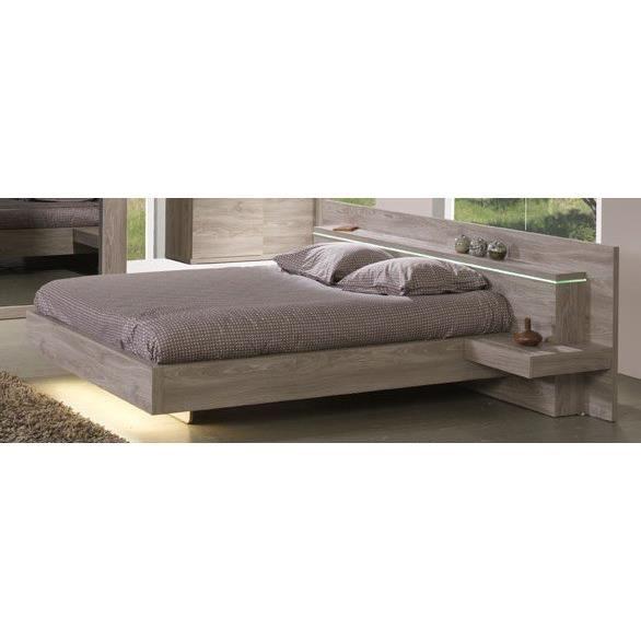 lit avec chevets int gr s jose 140 x 200 cm ou 160 x 200 cm memphis oak achat vente. Black Bedroom Furniture Sets. Home Design Ideas