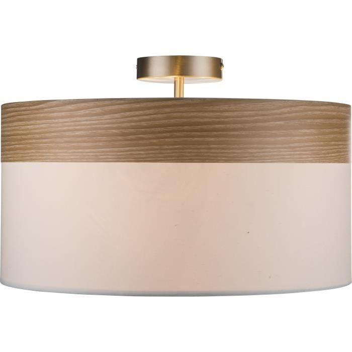 Plafonnier globo lighting plafonnier mat bois marron acryli