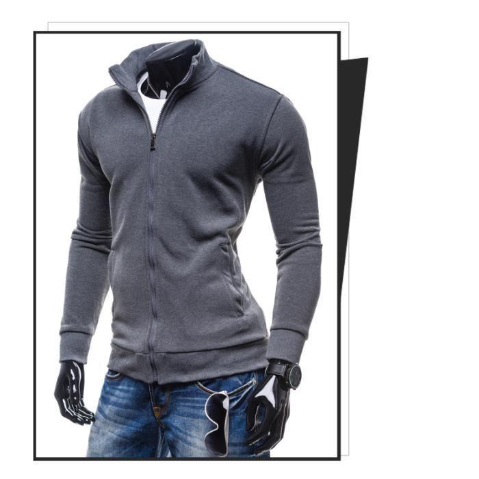 fd79326c66c1e Nouvelle plaine Homme AMERICAN Polaire Fermeture Éclair Sweat veste zipper  top