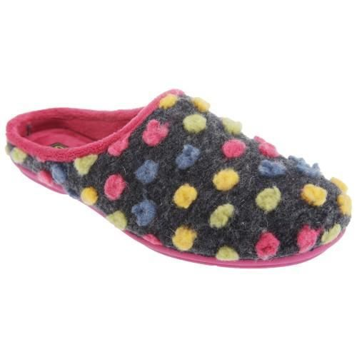 Sleepers Amy - Chaussons mules à pois - Femme