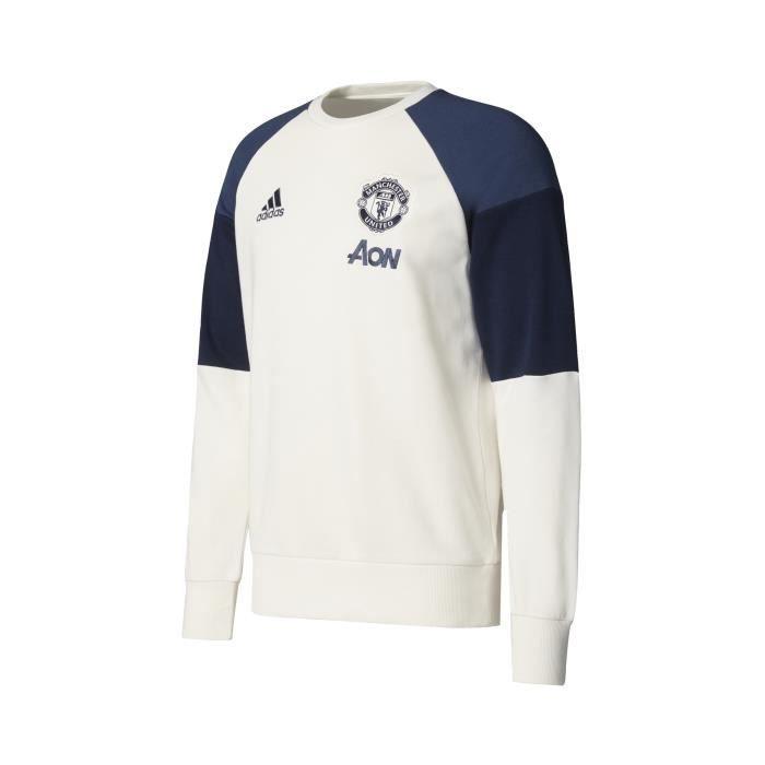 Sweat-shirt Manchester United Blanc - Prix pas cher - Cdiscount df7bd24e4d25