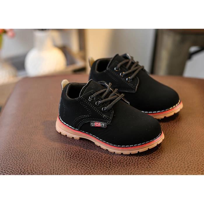 BOTTE Enfants Mode Garçons Filles Martin Sneaker Hiver Épais Neige Bébé Casual Chaussures@Noir X4Y30