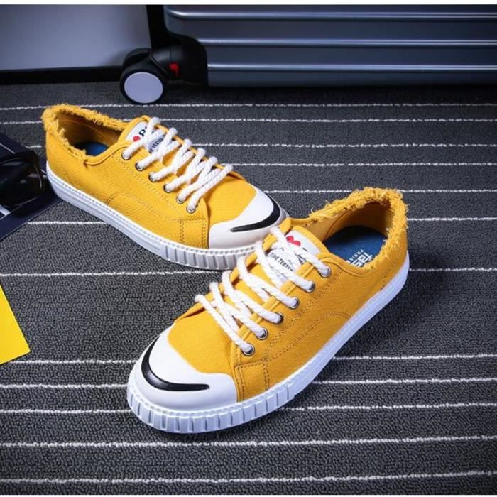 Chaussures de toile anti-glissement personnalité Chaussures de loisirs Hommes Beau Sneaker décontractées Homme Plus De Couleur EvyPLW