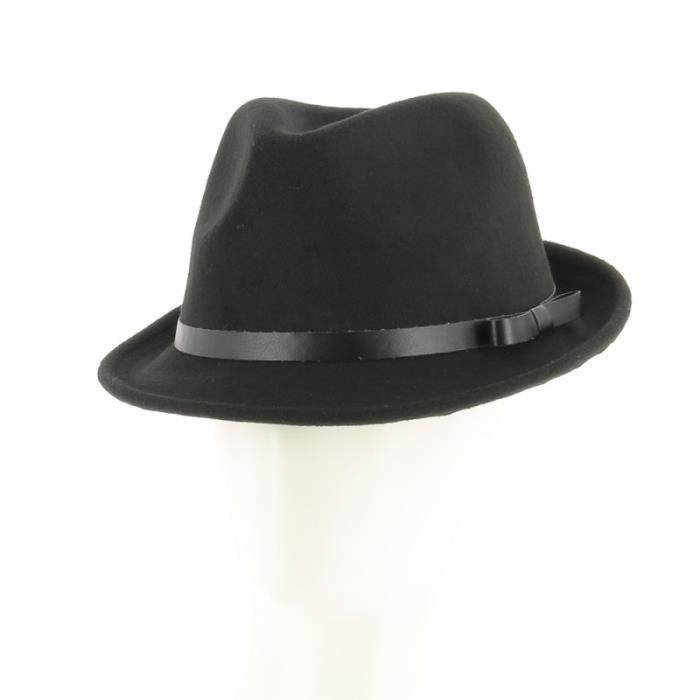NICOLAS DESCHAMPS - Chapeau type borsalino en feutre Gris Gris ... 780acc0b9ec