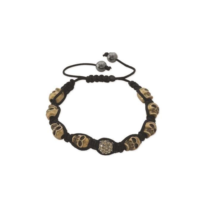Bracelet Shamballa Cordon Noir Fantaisie Femme