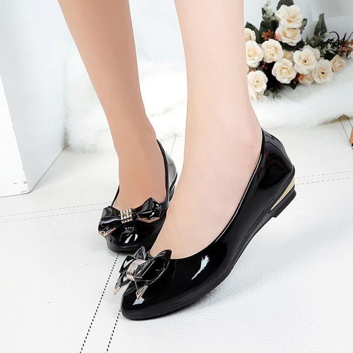 Bow Femmes Toe Chaussures De Femme La Talon Cravate Plat Mode Automne Plates Printemps 4914 SwqEwr6x0