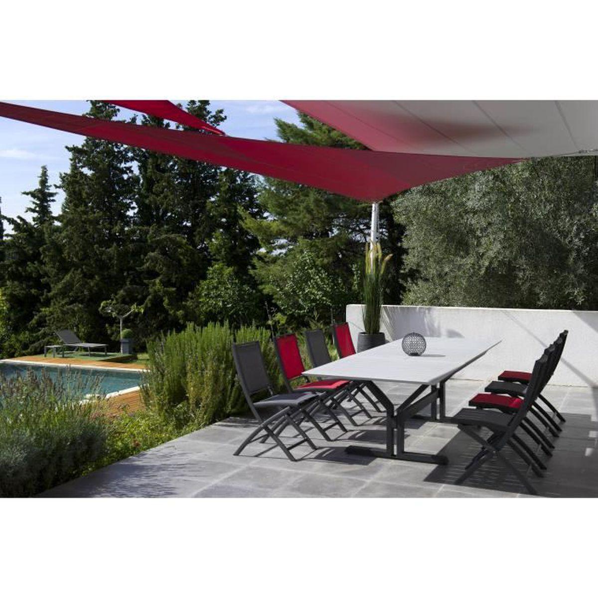 Table 12 personnes extensible de jardin avec un pied centrale Beauty  structure Alu