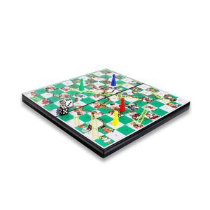 JEU D'ADRESSE 3d Snakes And Ladders Board Game With Pieces, Kid