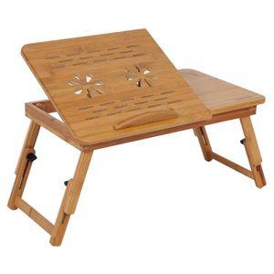 SUPPORT PC ET TABLETTE Table d'ordinateur pliable en bambou  Table de lec