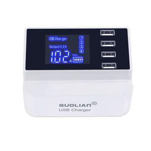 CHARGEUR TÉLÉPHONE Chargeur intelligent 4 ports USB écran LCD multipl