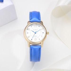 BRACELET DE MONTRE Femmes Mode bracelet en cuir analogique à quartz r