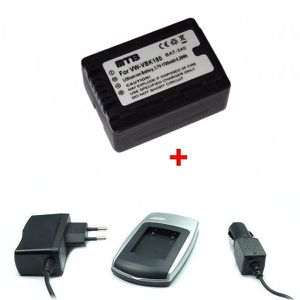 BATTERIE APPAREIL PHOTO Chargeur + Batterie pour Panasonic VW-VBK180