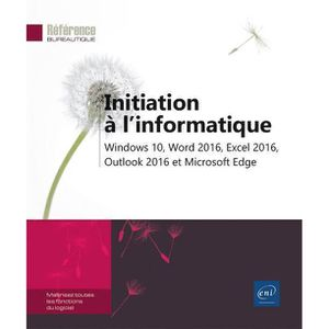 LIVRE INTERNET Livre - initiation à l'informatique ; Windows 10,