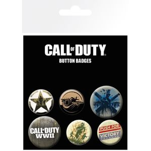 BADGES - PIN'S Set de badges Call of Duty WWII Mix