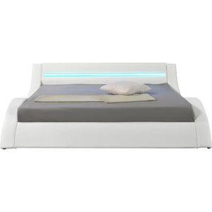 STRUCTURE DE LIT Hypnia - Lit Design LED blanc-140 x 190 (cm)