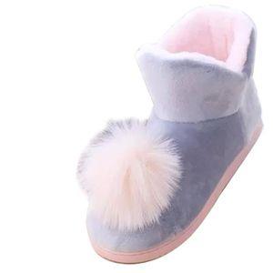 CHAUSSON - PANTOUFLE Chaussons Bottes Fourrées Synthétique Femme Boots