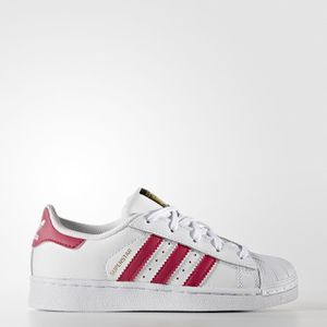 Basket Adidas Superstar Blanc Rose Enfant BA8382