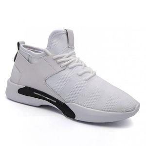 Chaussures DéTente Meilleure Absorption Des Chocs Ultra-RéSistant à L'Abrasion Masculines Mesh Extensible Respirant Homme blanc 43 H0CoxM