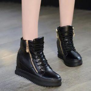 ESCARPIN Compensées Avslappnad haut Augmenter Chaussures à