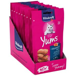 FRIANDISE VITAKRAFT Cat yums au saumon - Pour chat - 40g (x9