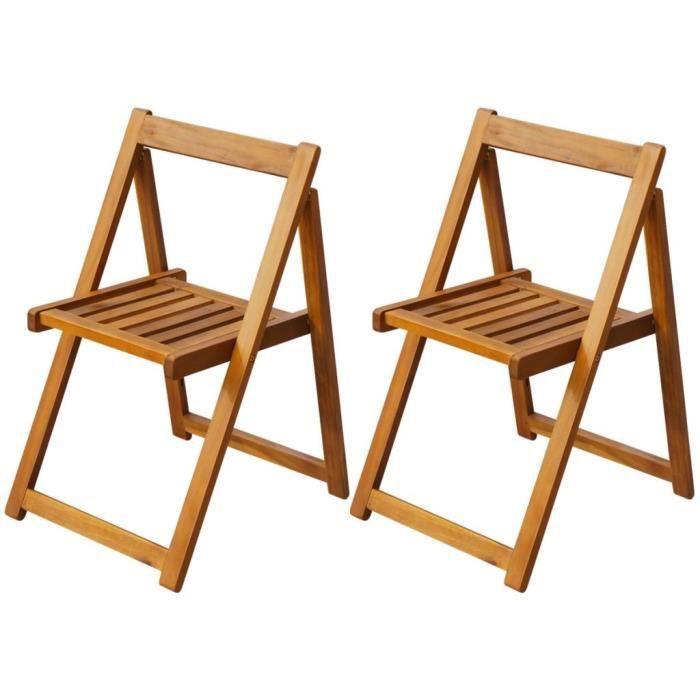 chaise bois exterieur achat vente pas cher. Black Bedroom Furniture Sets. Home Design Ideas