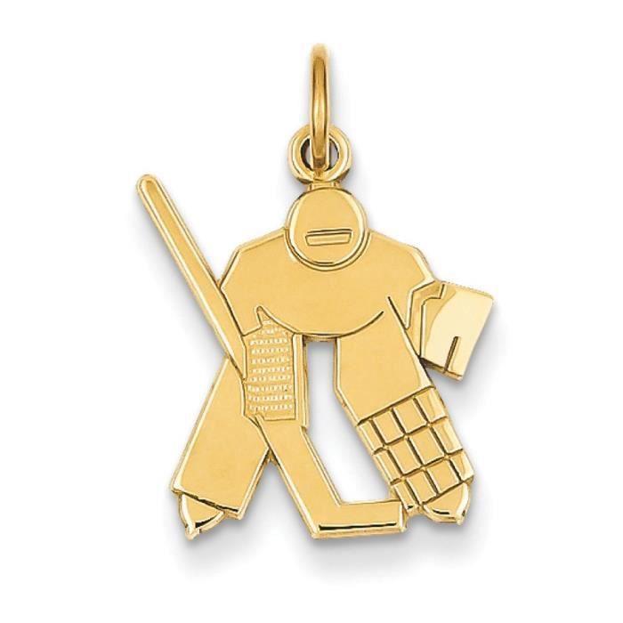 14 carats-de gardien de Hockey-Dimensions :21,3 x 15 mm