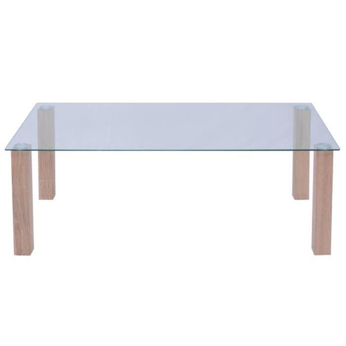 TABLE BASSE Magnifique vidaXL Table basse en verre 120 x 60 x