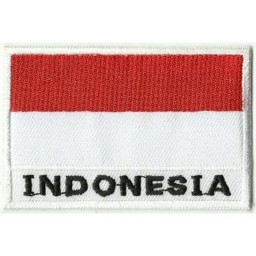 Drapeau De L Indonésie ecusson patch thermocollant drapeau indonesie dim. 7 x 5 cm - achat