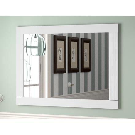 Miroir de salle de bain boheme cadre blanc vintage achat for Miroir boheme