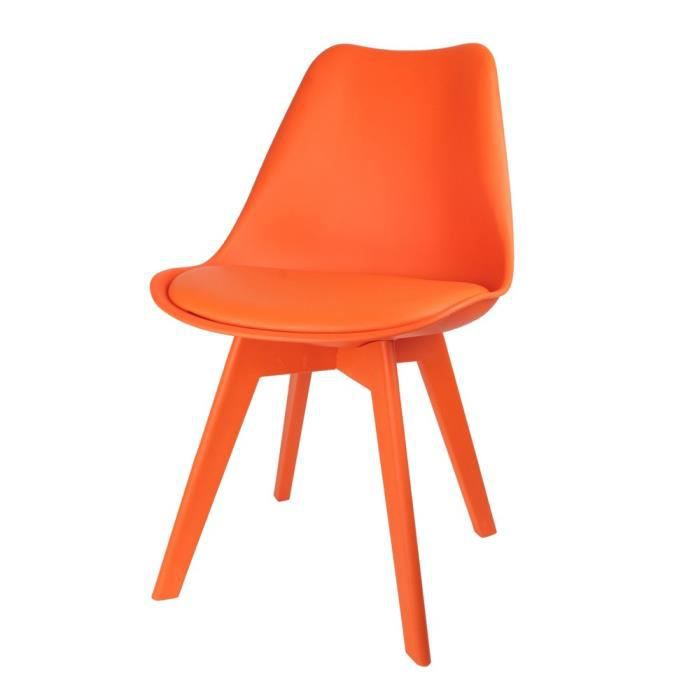 chaise chaise scandinave full couleur orange autres orang - Chaises Scandinaves Couleur