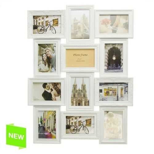 cadre photo multiple 12 photo blanc achat vente cadre photo cdiscount. Black Bedroom Furniture Sets. Home Design Ideas