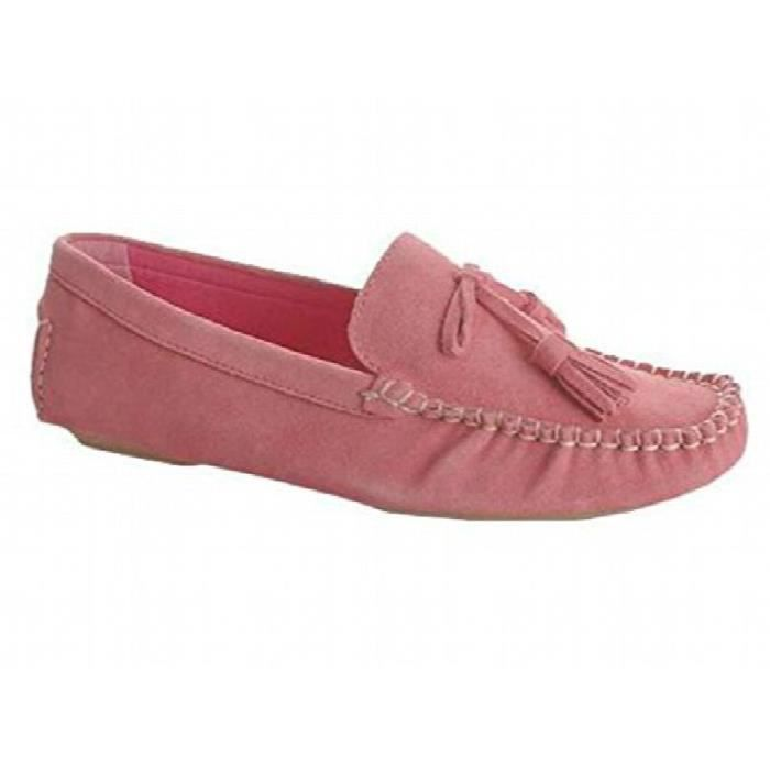 Casual Stylish Leather And Suede Loafer Moccasins Slipper Shoe LRMHJ Taille-38 FaJmt3R