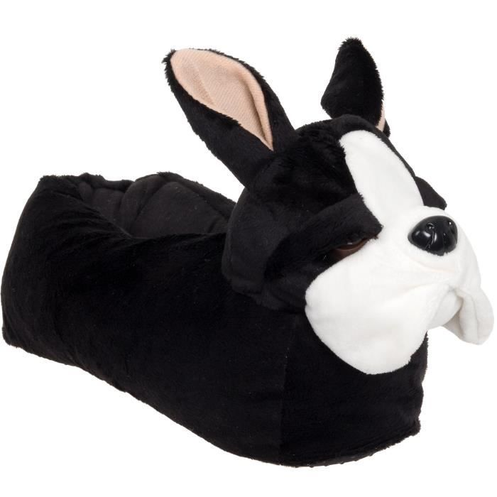 Animal Slippers - Plush French Bulldog Dog Slippers By DO1IL Taille-S