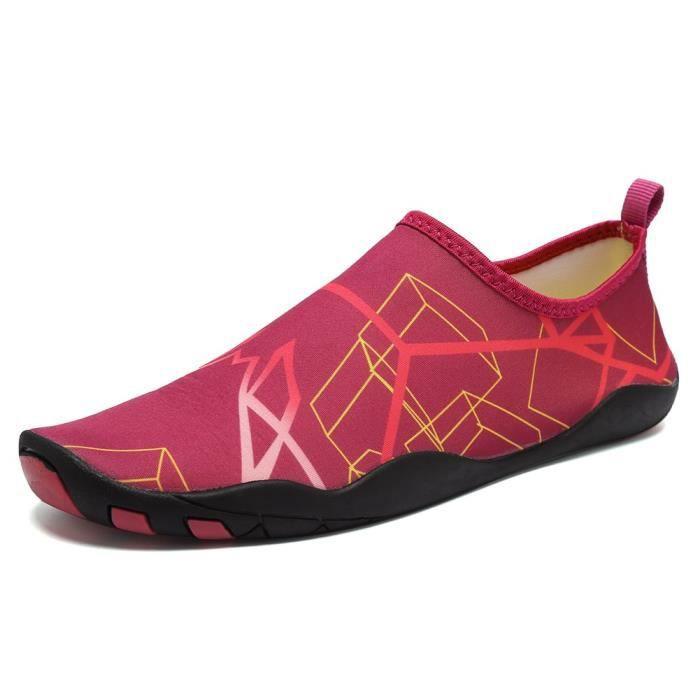 Pieds nus rapide à sec Sports nautiques Chaussures Aqua Avec 14 trous de drainage pour nager, Marche, Yoga, Lac, Bea DKITG Taille-41