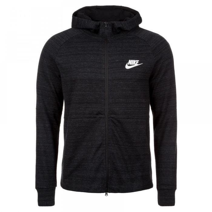 NIKE Sweatshirt Av15 Nsw Knit - Homme - Noir Noir Noir - Achat ... b0e56133da8d