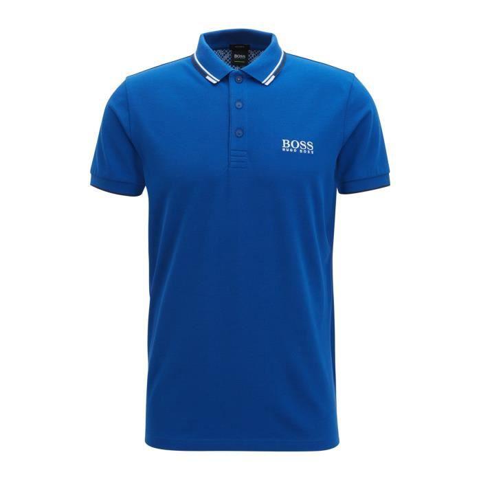 Polo Hugo Boss Bleu Bleu - Achat   Vente polo - Cdiscount 0a22f0160429