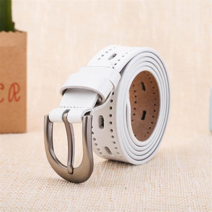 bc6faf50855a6 De perles en ceintures cuir pour femme Jeans GG Ceinture Ceintures Pour Les pantalons  blanc