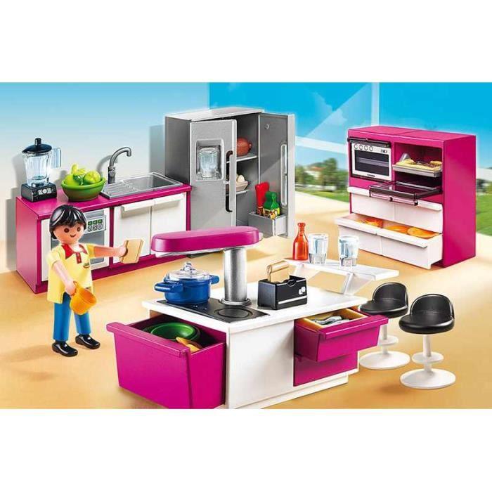 Playmobil 5582 cuisine avec lot achat vente univers miniature cdiscount - Toute les maison playmobil ...