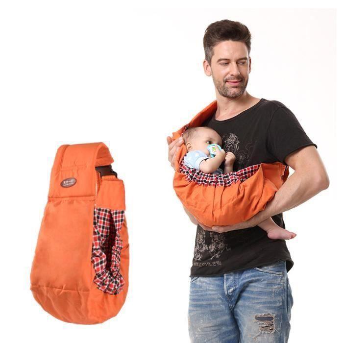 aa8246ee4071 Echarpe porte-bébé 0-18 mois Orange - Achat   Vente écharpe de ...