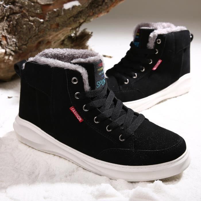 Botte Homme d'hiver loisirs épais Sole High Top Skater noir taille10