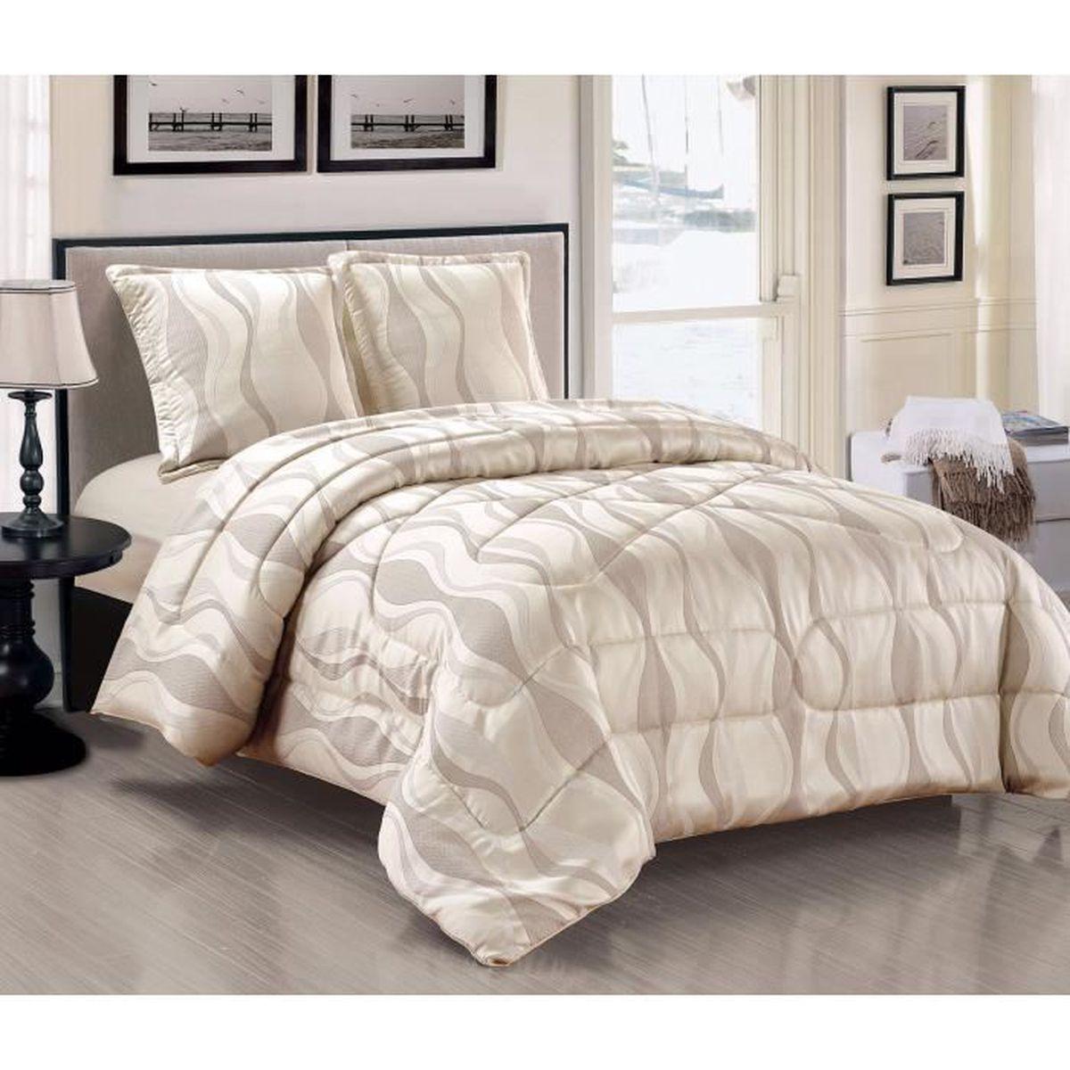 couvre-lit boutis 230x250 cm +2 taie d'oreiller matelas - achat